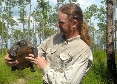 David Gordon with a Gopher Tortoise